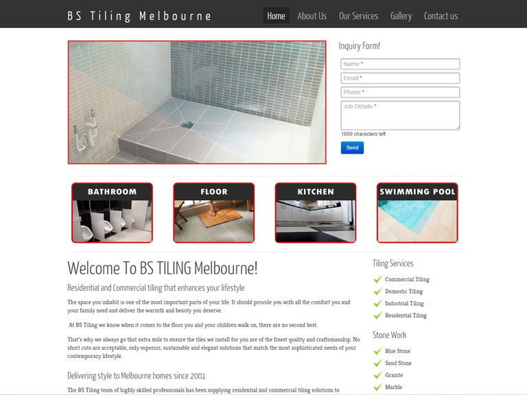 BS TILING.com.au- Designed By Dandy Small Business Web Design