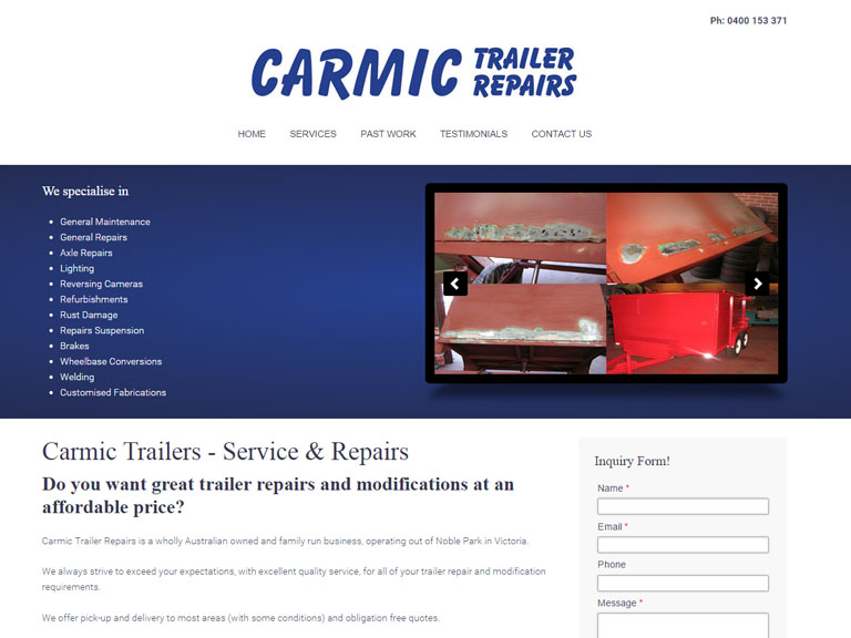 carmictrailers.com.au- Designed By Dandy Small Business Web Design