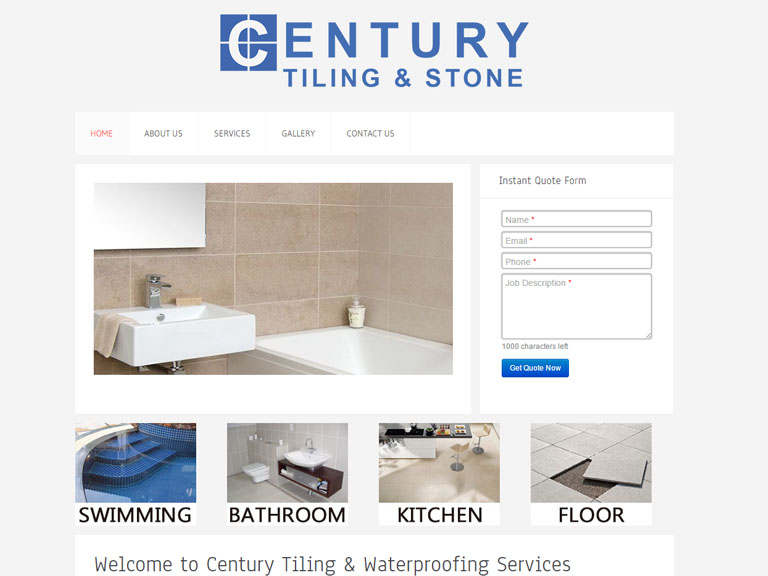 centurytiling.com.au- Designed By Dandy Small Business Web Design