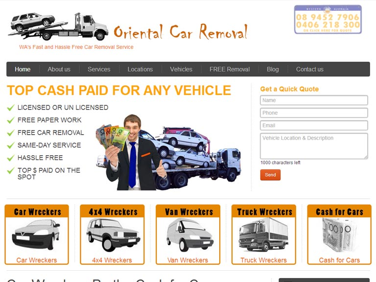 OrientalCarRemovals.com.au- Designed By Dandy Small Business Web Design