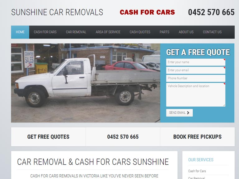 sunshinecarremovals.com.au- Designed By Dandy Small Business Web Design
